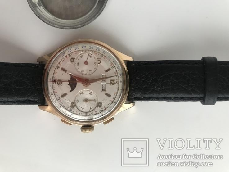 Швейцарские часы хронограф лунник, фото №11