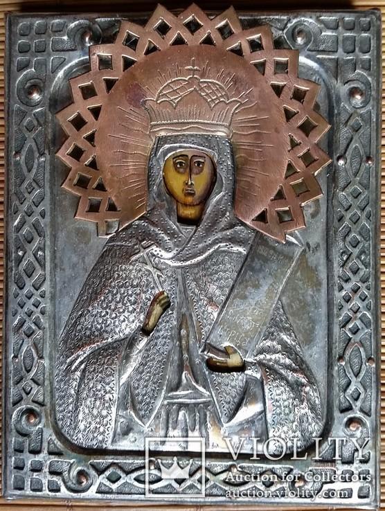 Ікона Параскева П'ятниця, мідь, 10,8х8,4 см, фото №3