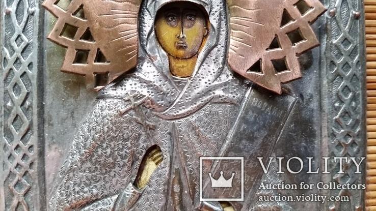 Ікона Параскева П'ятниця, мідь, 10,8х8,4 см, фото №5