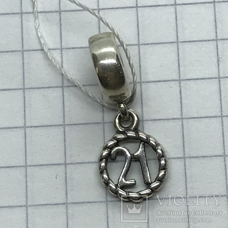 Шарм серебро Pandora, фото №3