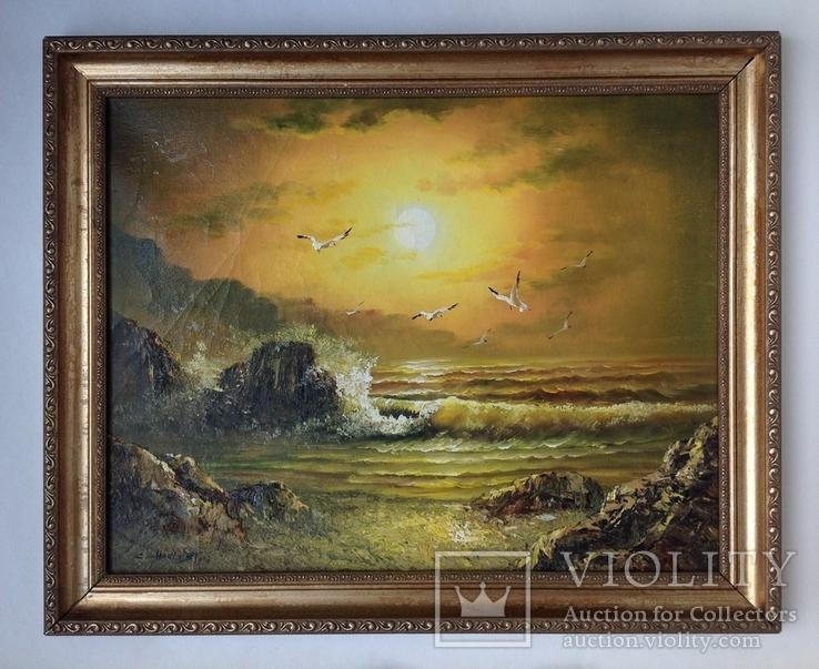 Морской пейзаж  х.м. 40х51, фото №3