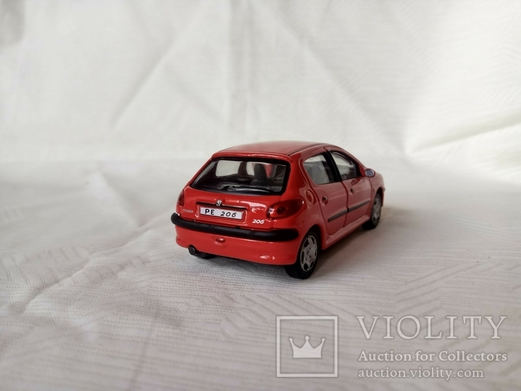 Автомодель Peugeot 206 1:43 Cararama, фото №5