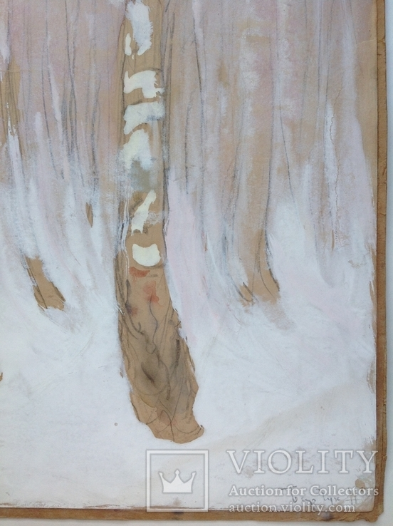 Этюд. Зимние березы. 62х49,5, фото №4