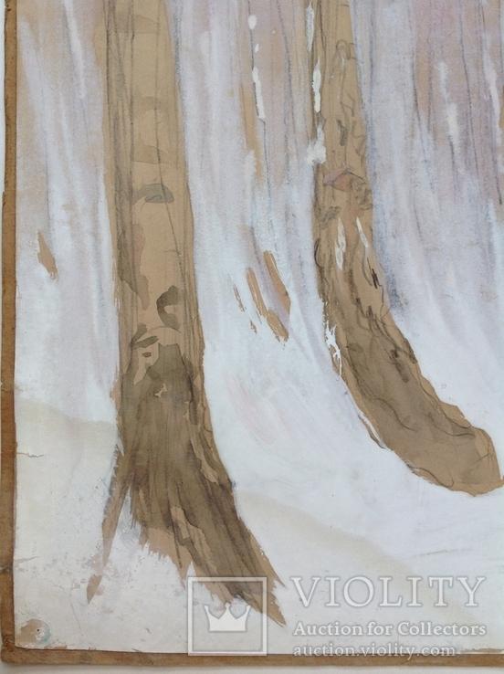 Этюд. Зимние березы. 62х49,5, фото №5