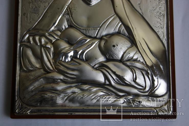 Икона серебро 925пр.   21х15, фото №5