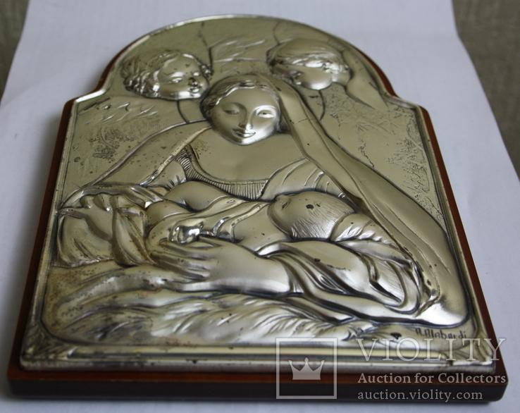 Икона серебро 925пр.   21х15, фото №8