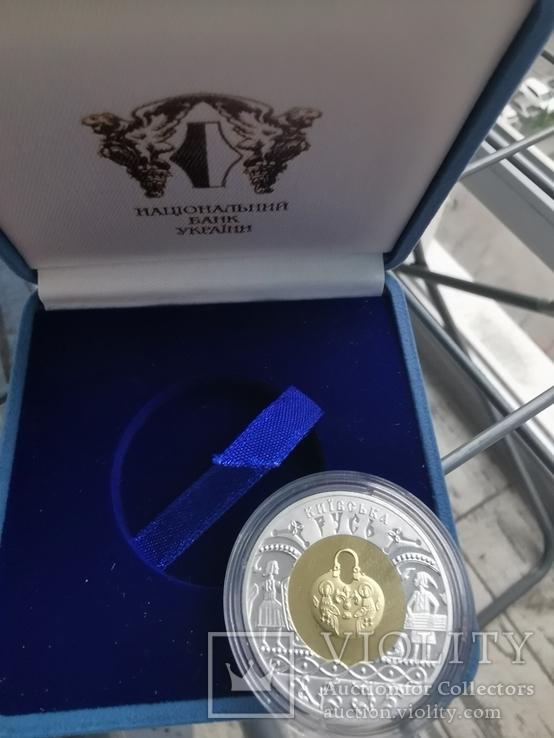 Киевская Русь биметалл серебро золото, фото №3