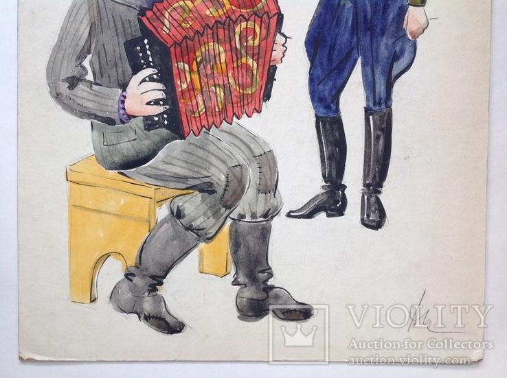 Шестеренко А.И.  Эскиз костюмов. 1970-е 59,5х40, фото №5