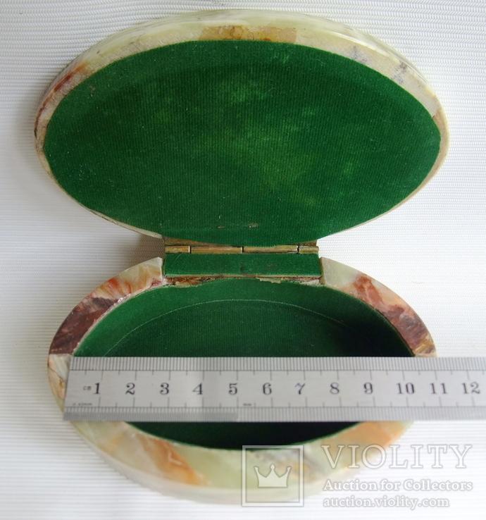 Шкатулка для украшений из зелёного оникса., фото №13