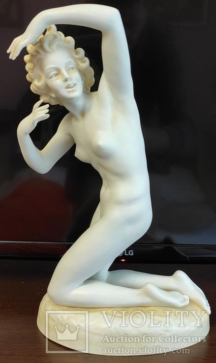 Девушка Ню. Германия.SCHEIBE.Скульптор Otto Poertzel 31 см.