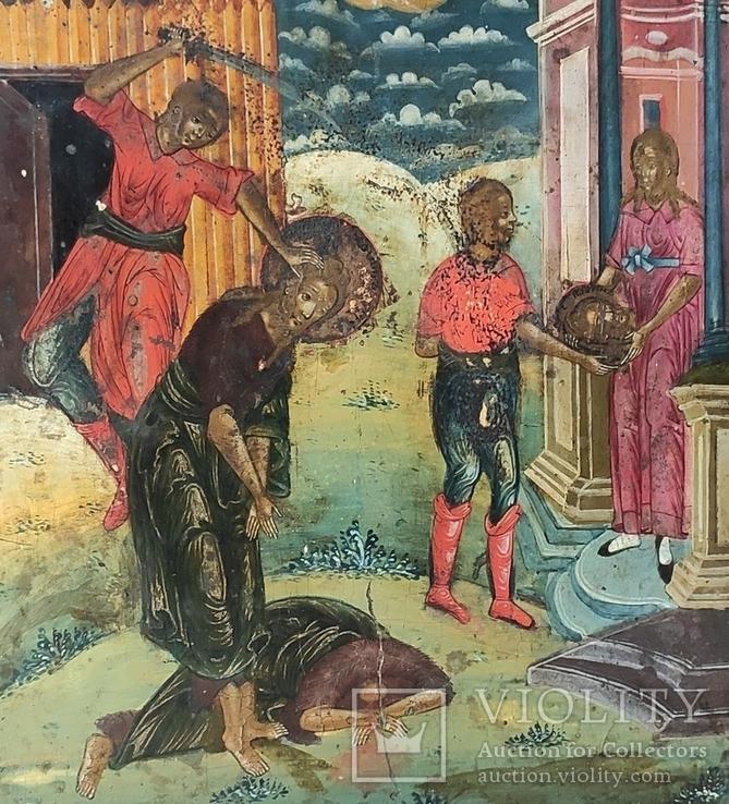 Икона Усекновение главы Иоанна Предтечи.36.5х29.5х3.5 См, фото №7