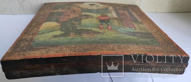 Икона Усекновение главы Иоанна Предтечи.36.5х29.5х3.5 См, фото №11