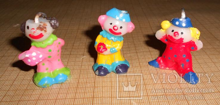 Свечки Клоуны. На детский торт., фото №2