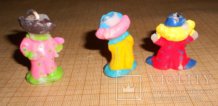 Свечки Клоуны. На детский торт., фото №3