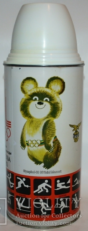 """Термос экспортный """"Москва.Олимпиада-80"""" (Индия для СССР), фото №5"""