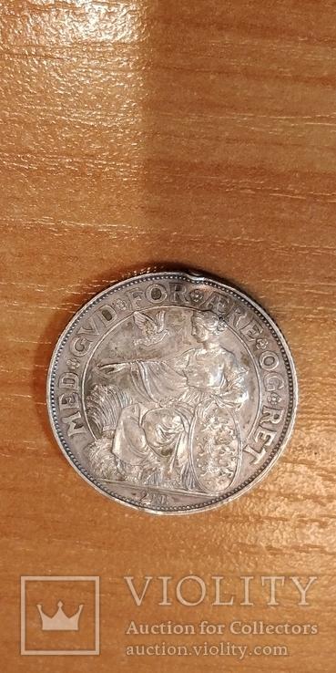 Дания 40 лет правления короля Кристиана 1903 г.,2 кроны, фото №5