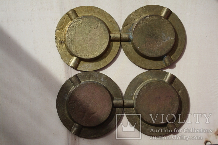 Бронзовые/латунные пепельницы Португалия и две в форме курительных трубок., фото №6