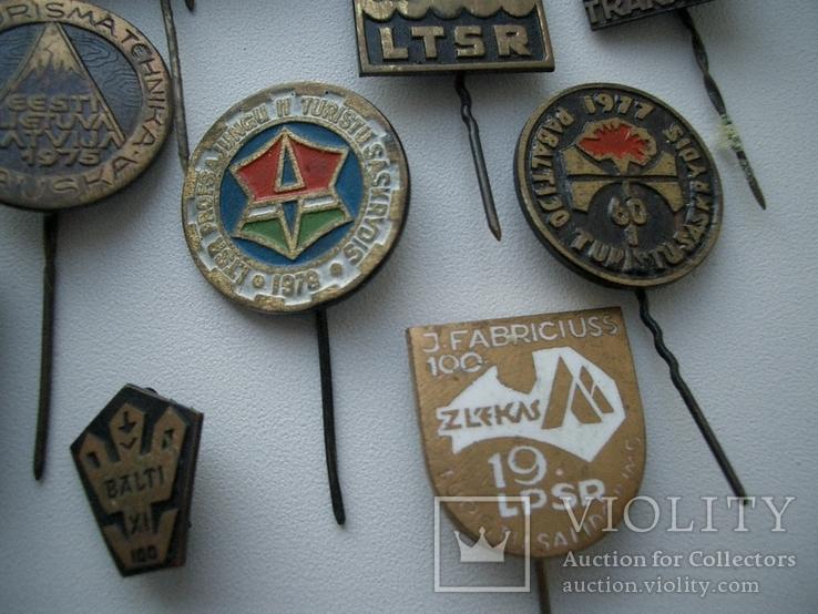 Мегалот 25 значков СССР прибалты туризм, фото №6