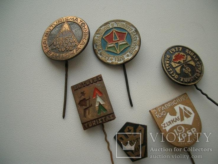 Мегалот 25 значков СССР прибалты туризм, фото №12
