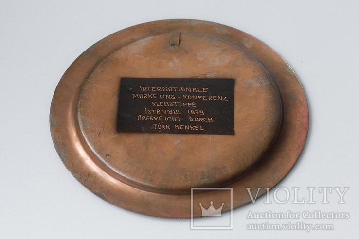 Тарелка бронзовая (медная? латуная?) декоративная на стену. Турция, фото №7