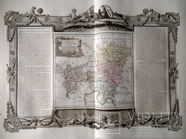1766 Австрия (большая карта 66x49, Верже) СерияАнтик