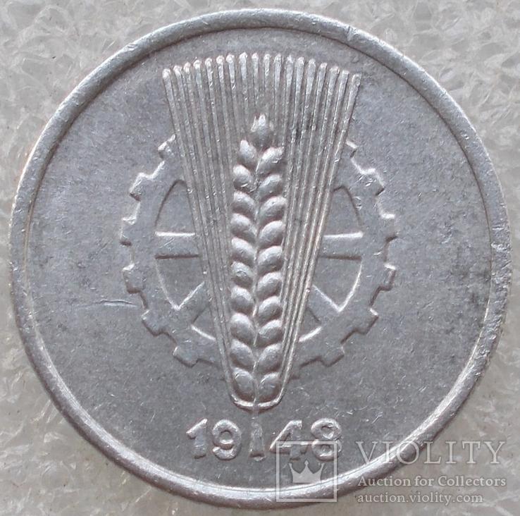 5 Пфенигов 1948 г. ГДР, фото №3
