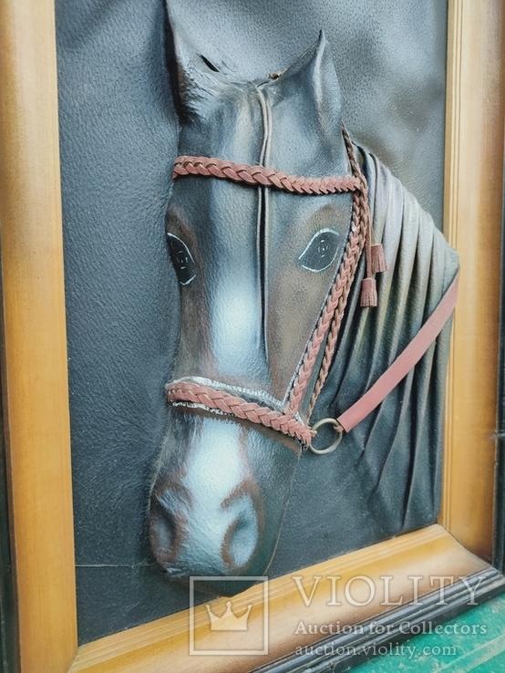 """Картина Из кожи """"Лошадь"""", фото №2"""