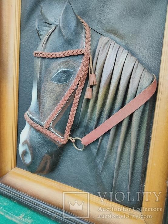 """Картина Из кожи """"Лошадь"""", фото №3"""