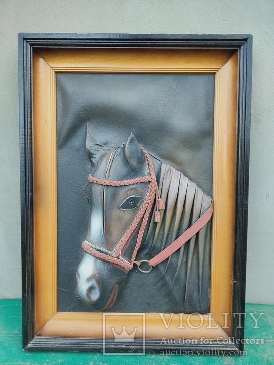"""Картина Из кожи """"Лошадь"""", фото №4"""