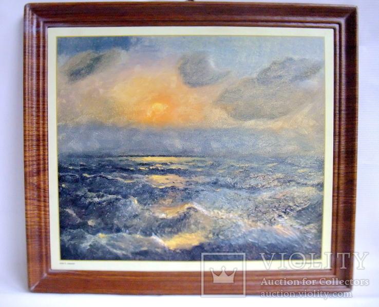 Картина ''Чёрное море''. Художественный сувенир ЧМП. Репродукция., фото №8