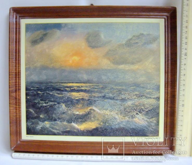 Картина ''Чёрное море''. Художественный сувенир ЧМП. Репродукция., фото №9