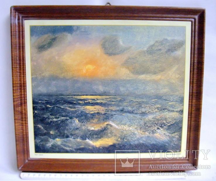 Картина ''Чёрное море''. Художественный сувенир ЧМП. Репродукция., фото №10