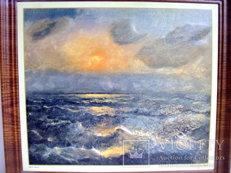 Картина ''Чёрное море''. Художественный сувенир ЧМП. Репродукция., фото №2