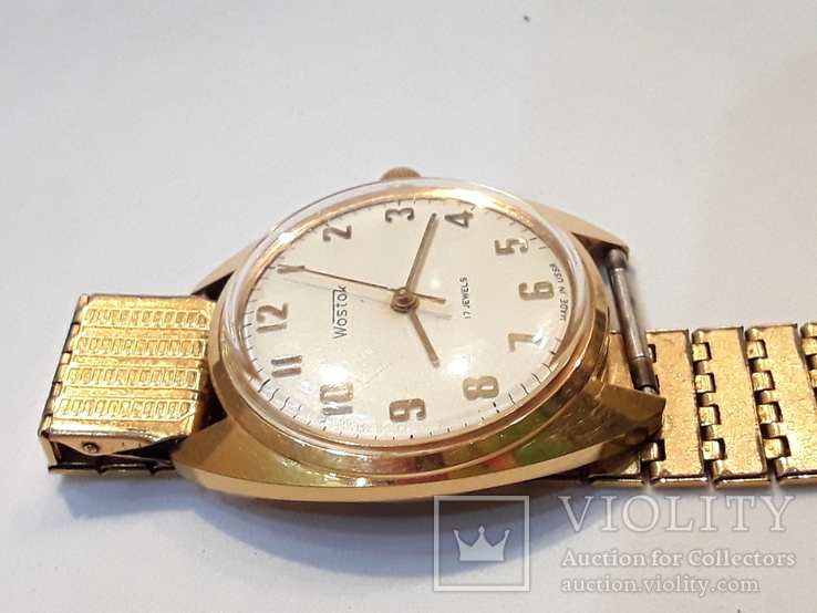 Позолоченые часы Восток  с браслетом, фото №8