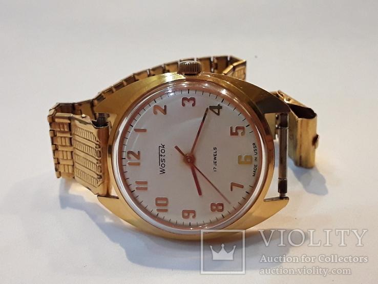 Позолоченые часы Восток  с браслетом, фото №9