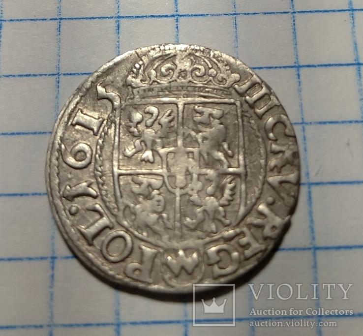 3 крейцера 1615  Сігізмунда lll, фото №3