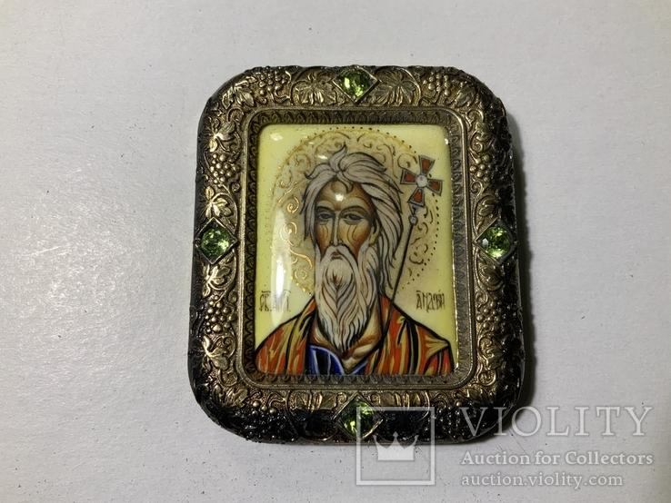 Серебряная икона Андрея Первозванного, фото №2