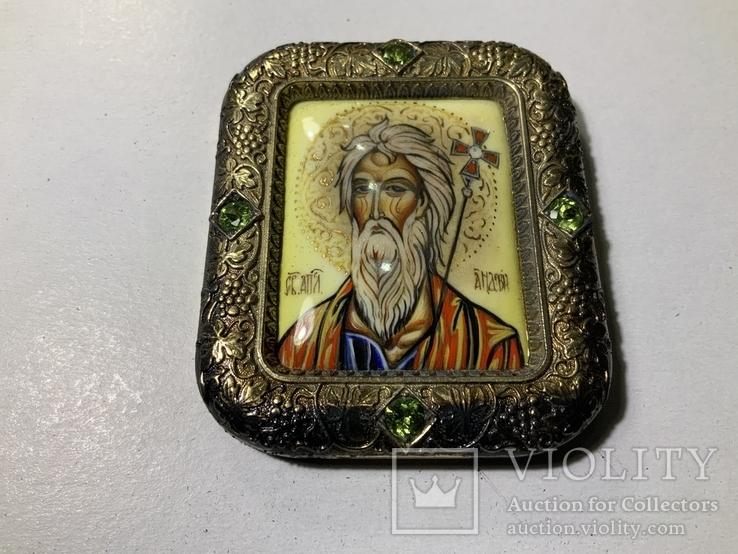 Серебряная икона Андрея Первозванного, фото №6