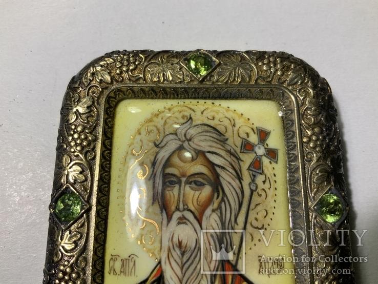 Серебряная икона Андрея Первозванного, фото №7