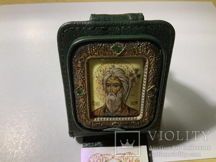 Серебряная икона Андрея Первозванного, фото №13