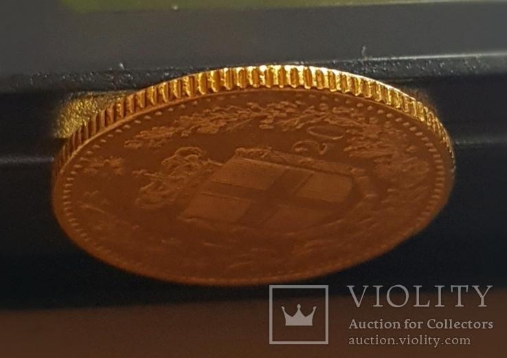 Италия, 20 лир 1882г., золото 6,45г., фото №4