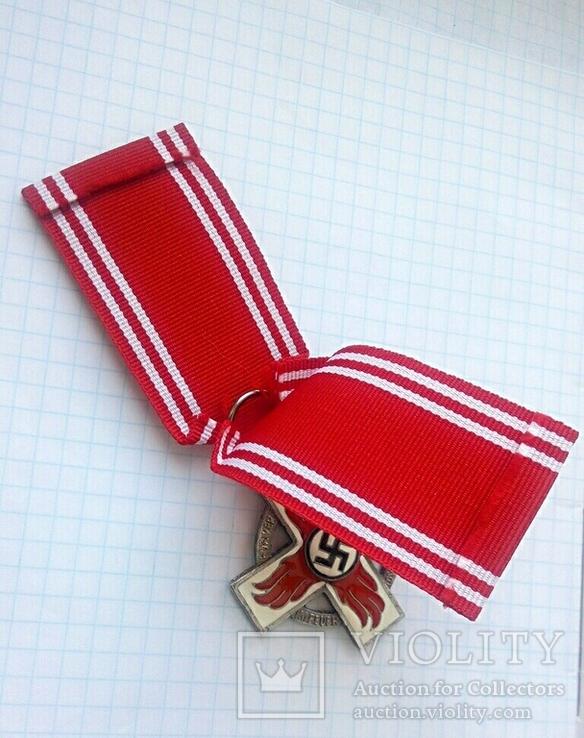 Крест 2 класса за 25 лет службы в пожарной охране, III Рейх, Германия (КОПИЯ)., фото №6