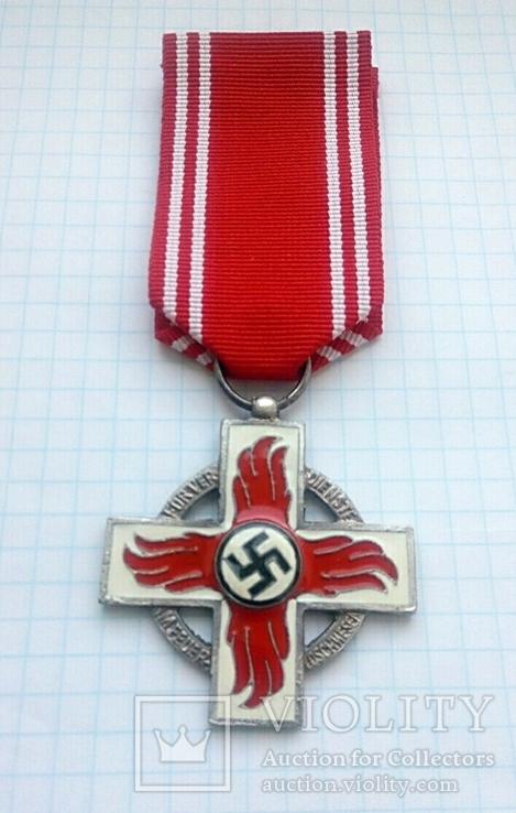 Крест 2 класса за 25 лет службы в пожарной охране, III Рейх, Германия (КОПИЯ)., фото №7