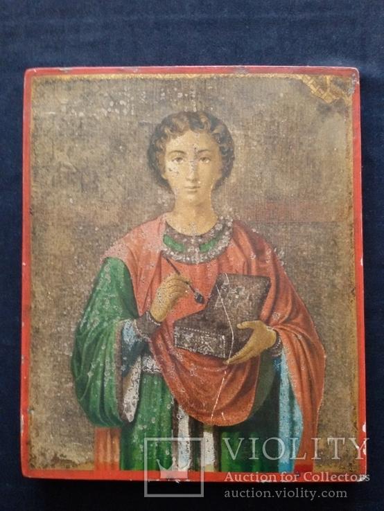Икона Пантелеимон Целитель, благословение св. Афонской Горы, фото №2
