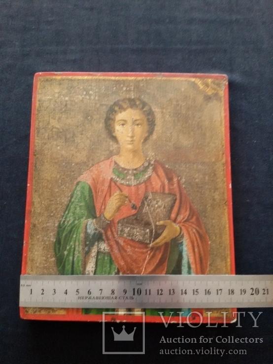 Икона Пантелеимон Целитель, благословение св. Афонской Горы, фото №4