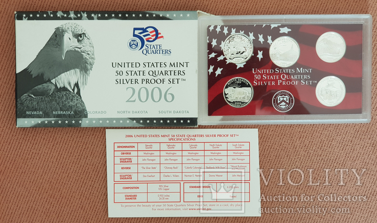 US Mint 50 States Quarters Silver Proof Set 2006