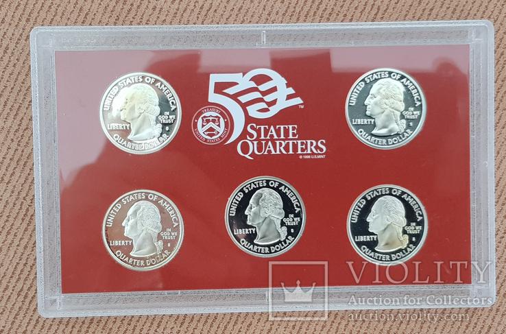 US Mint 50 States Quarters Silver Proof Set 2006, фото №4
