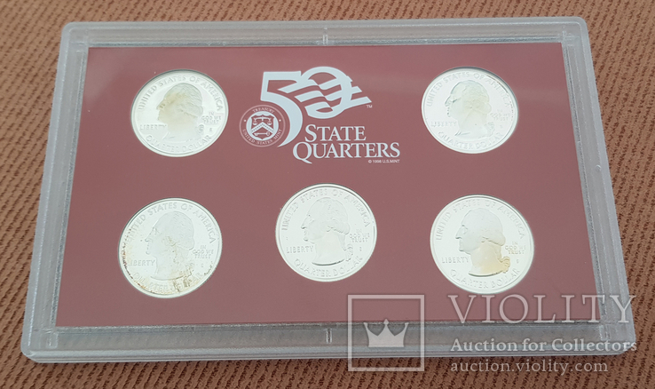 US Mint 50 States Quarters Silver Proof Set 2006, фото №6