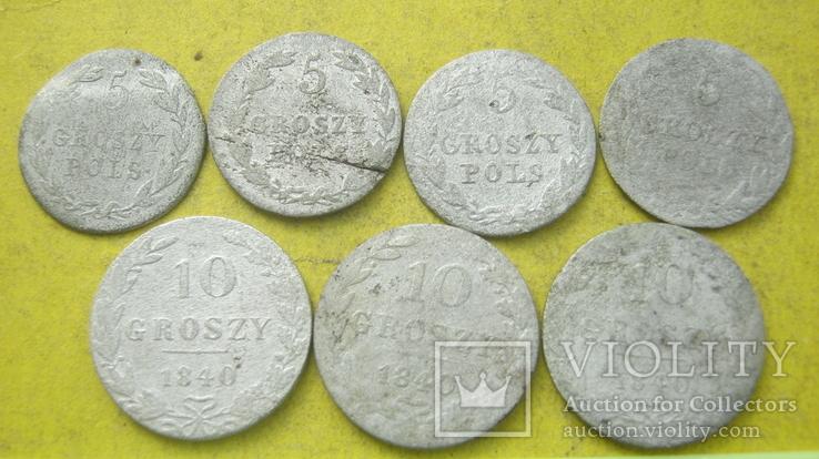 Срібні гроши різних років та номіналів Росіі для Польші, фото №2