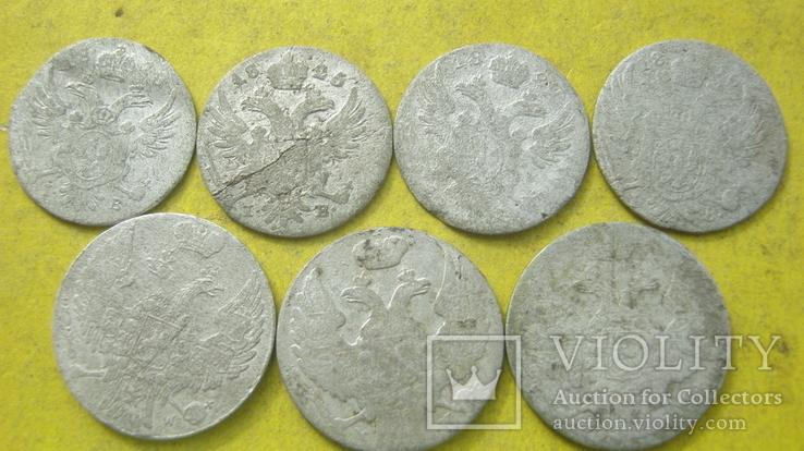 Срібні гроши різних років та номіналів Росіі для Польші, фото №3